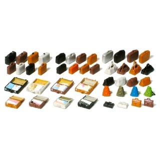 Set de 44 bagages à peindre-HO 1/87-PREISER 17007