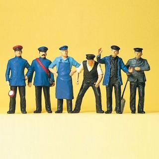 Set de 6 personnages de voie ferrée-G 1/22.5-PREISER 45153