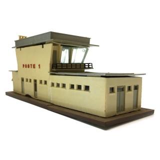 Maquette poste d'aiguillage à restaurer-HO 1/87-DEP110-004
