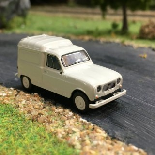 Renault 4 fourgonnette gris clair 1961-HO-1/87-BREKINA 2406