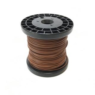 Câble marron souple cuivre 50ml 0.14mm² HERKAT 3667