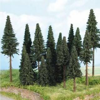 Forêt de 20 sapins 7 à 14 cm- Toutes échelles-HEKI 2263.