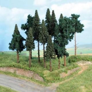 Forêt de 14 sapins 10 à 17 cm- Toutes échelles-HEKI 2264.