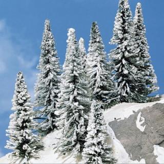 8 sapins enneigés 8 à 12 cm- Toutes échelles-HEKI 2161.