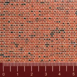 Plaque cartonnée mur de briques rouges-N 1/160-VOLLMER 47361
