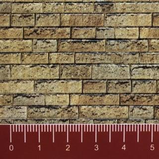 Plaque cartonnée mur de pierre de taille HO-1/87-VOLLMER 46038