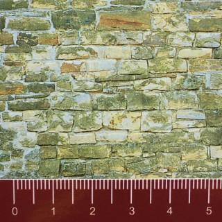 Plaque cartonnée mur en vielle pierre HO-1/87-VOLLMER 46043