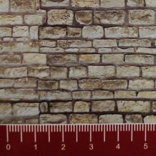 Plaque cartonnée mur pierre de taille HO-1/87-VOLLMER 46040
