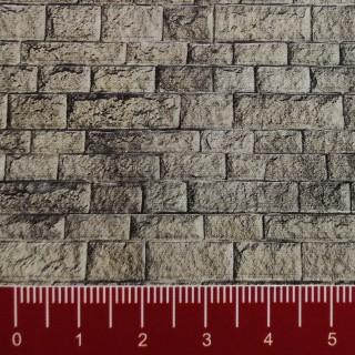 Plaque cartonnée mur pierre de taille HO-1/87-VOLLMER 46049