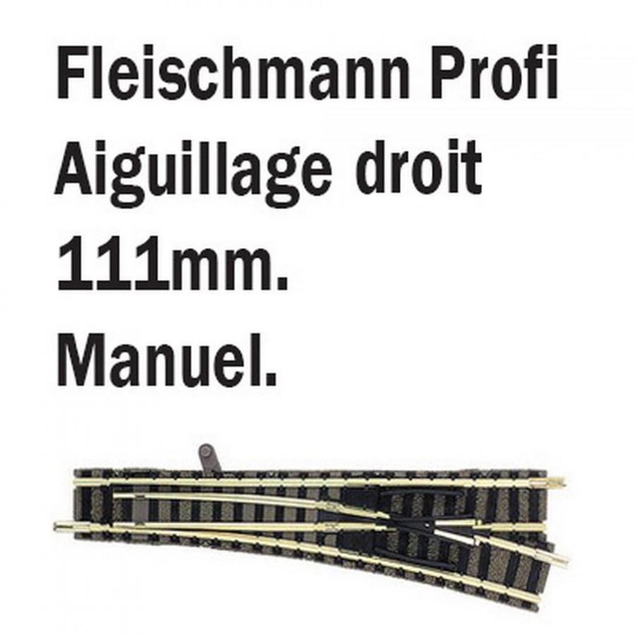 Aiguillage droit droit-N-1/160-FLEISCHMANN 9171
