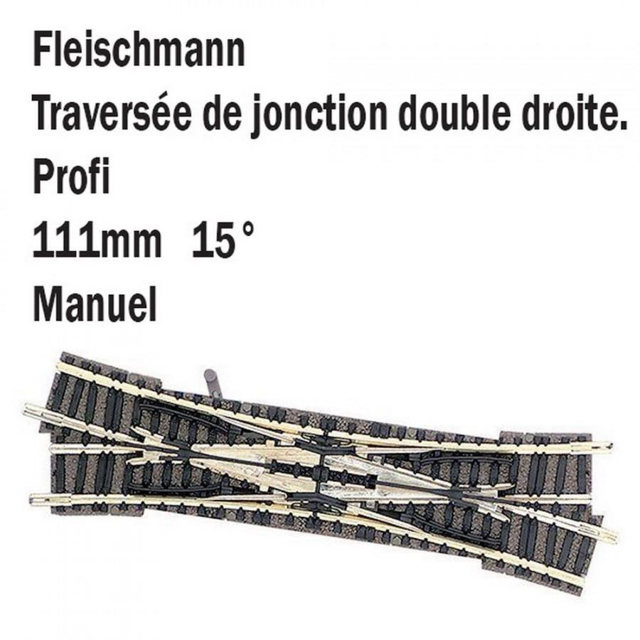 Double traversée droite-N-1/160-FLEISCHMANN 9185
