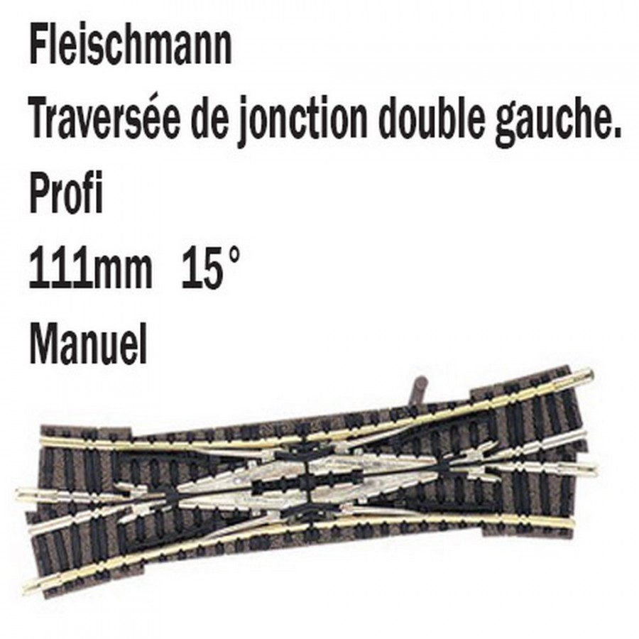 Double traversée gauche-N-1/160-FLEISCHMANN 9184