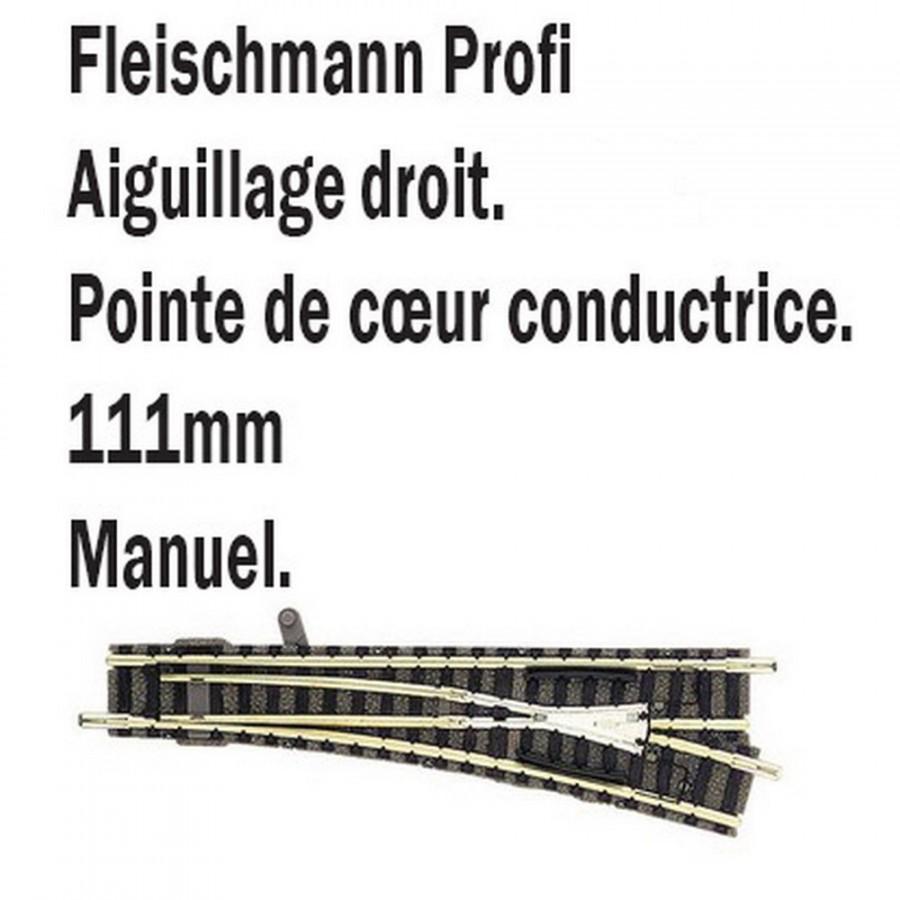 Aiguillage droit droit-N-1/160-FLEISCHMANN 9179