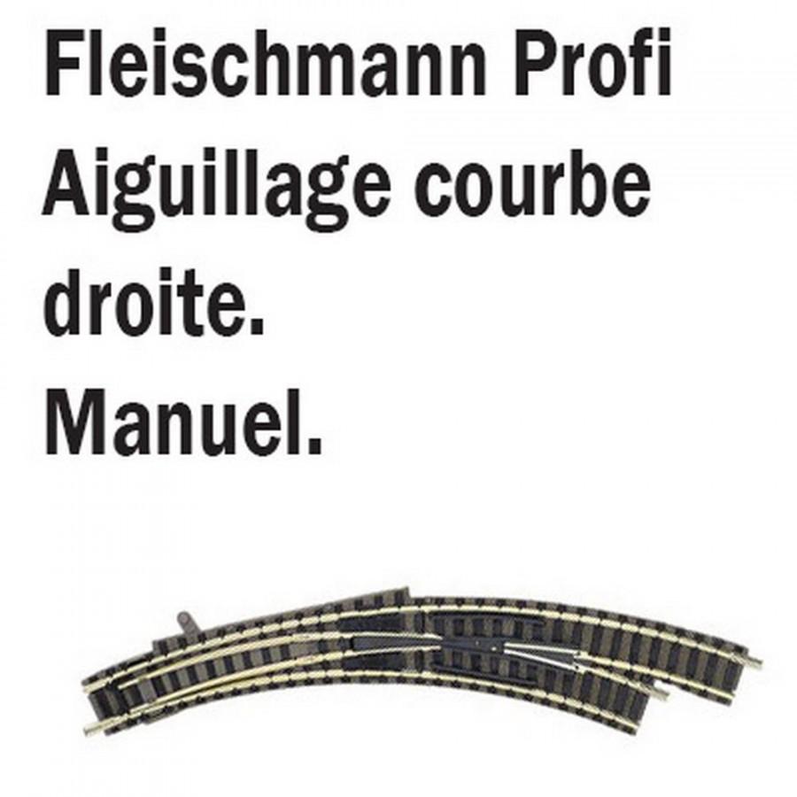 Aiguillage courbe droit-N-1/160-FLEISCHMANN 9175