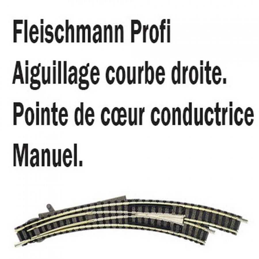 Aiguillage courbe droit-N-1/160-FLEISCHMANN 9169