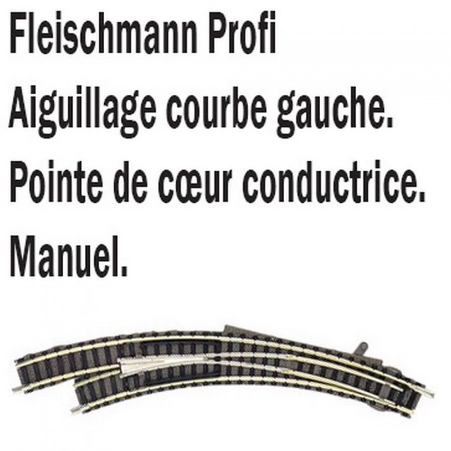 Aiguillage courbe gauche-N-1/160-FLEISCHMANN 9168