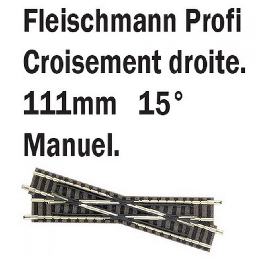 croisement droit 15°-N-1/160-FLEISCHMANN 9163