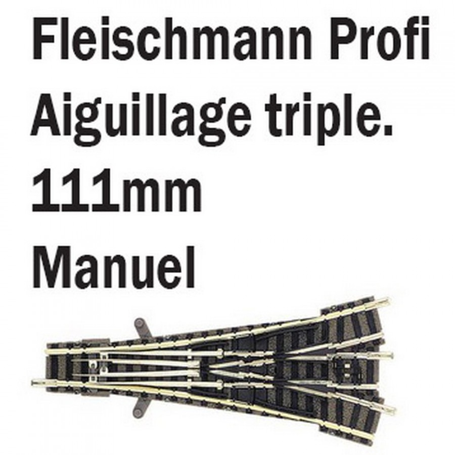 Aiguillage triple-N-1/160-FLEISCHMANN 9157