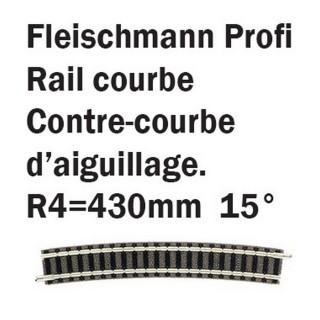 Petit rail courbe R4 15°-N-1/160-FLEISCHMANN 9136