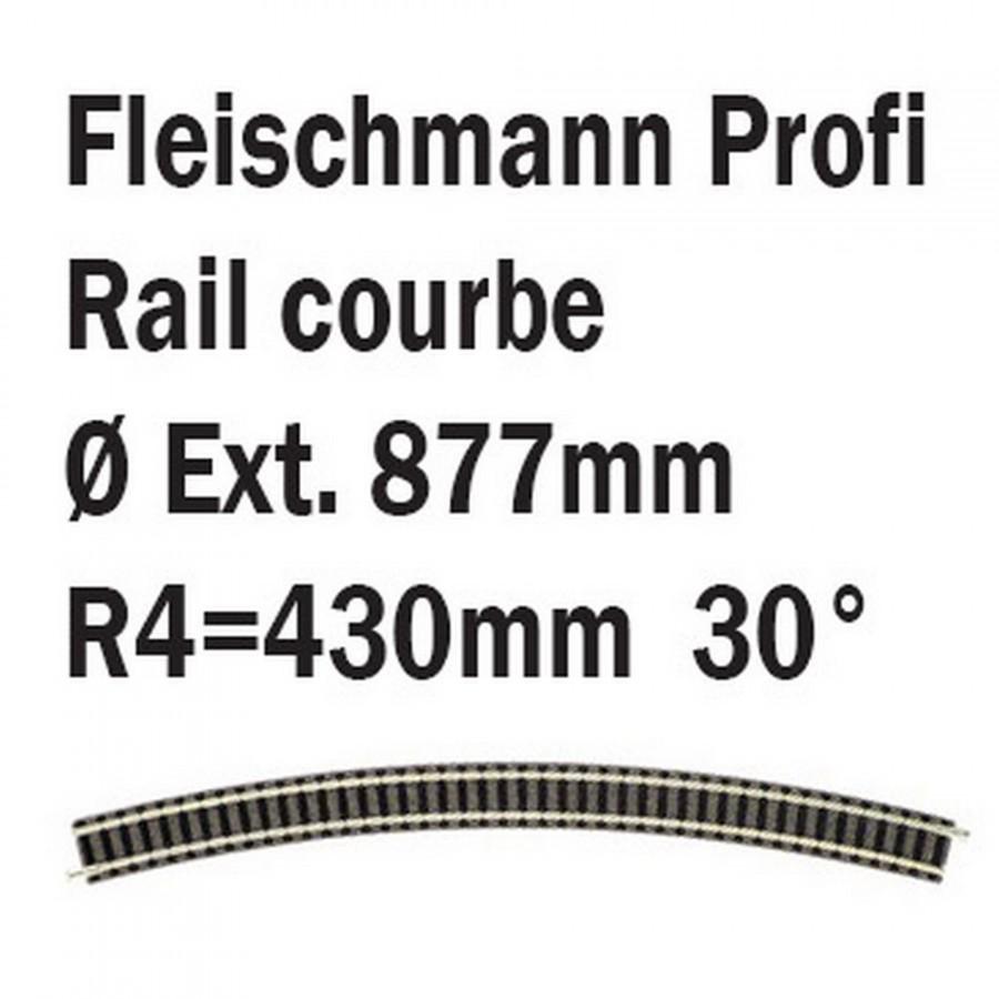 Rail courbe R4 30°-N-1/160-FLEISCHMANN 9135