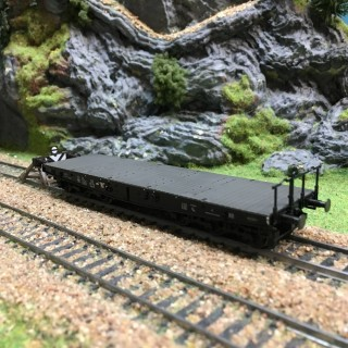 Wagon plat à ranchers SSym 46 ép III DB-HO-1/87-MARKLIN 48694