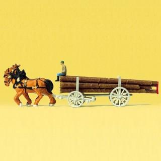Charette à bois-N-1/160-PREISER 79477