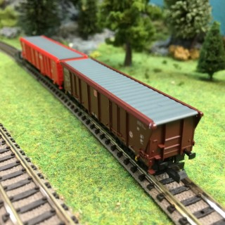 Coffret de 12 wagons Tamns 886 DB AG/Cargo-N-1/160-FLEISCHMANN 829350