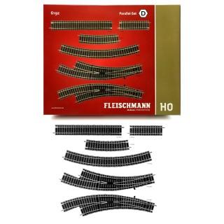 Coffret D, droites, courbes, aiguillages-HO 1/87-FLEISCHMANN 6192