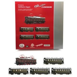 """Coffret """"Gruppenverwaltung Bayern"""" locomotive EP 5 DRG-HO 1/87-FLEISCHMANN 481701"""