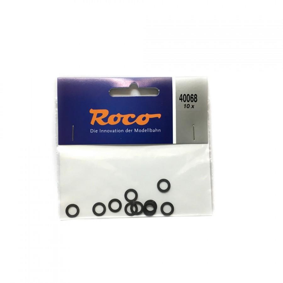 10 bandages de roue diamètre 8.3 à 10.2mm-HO-1/87-ROCO 40068