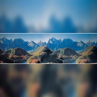 Décor de fond Montagne-toutes échelles-FALLER 180512