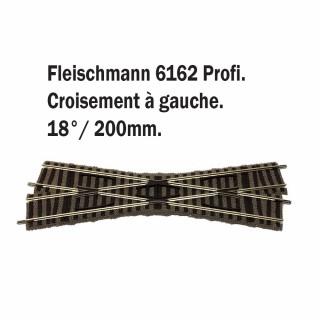 Croisement gauche 200mm 18°-HO-1/87-FLEISCHMANN 6162