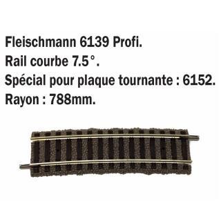 Petite rail courbe R788mm 7.5°-HO-1/87-FLEISCHMANN 6139