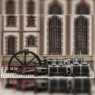 Machine à vapeur époque I-HO-1/87-FALLER 180383