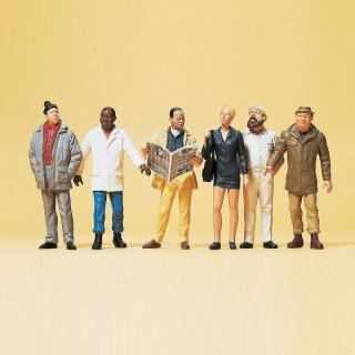 """Set de 6 personnages """"passants""""-G 1/22.5-PREISER 45156"""