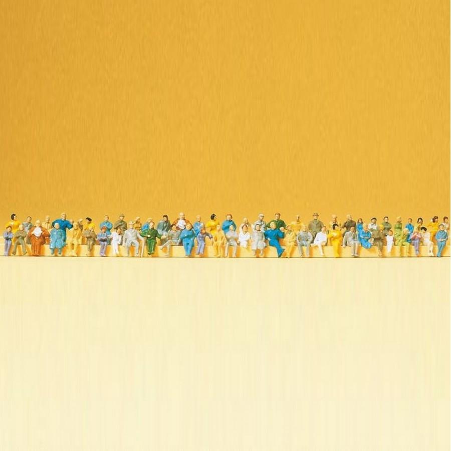 60 personnages assis-N-1/160-PREISER 79250