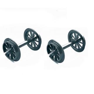 2 essieux plastique roues à rayons-G 1/22.5-LGB 67301