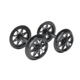 2 essieux plastique roues à doubles rayons-G 1/22.5-LGB 67303