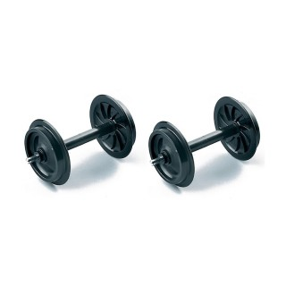 2 essieux plastique roues pleines-G 1/22.5-LGB 67401