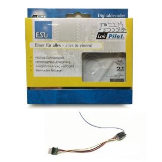 Décodeur LokPilot micro fil à 6 broches DCC N et HO-ESU-54687