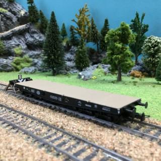 Wagon plat SSyms 46 ép III-HO-1/87-REE WBA-015
