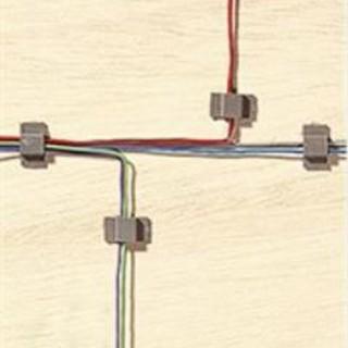 """Sachet de 20 supports de câbles """"pince""""-Toutes échelles-NOCH 60180"""