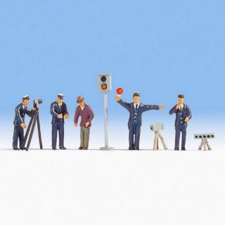 Agents de police + accessoires-N 1/160-NOCH 36100