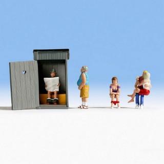 Scène aux toilettes-HO-1/87-NOCH 36560