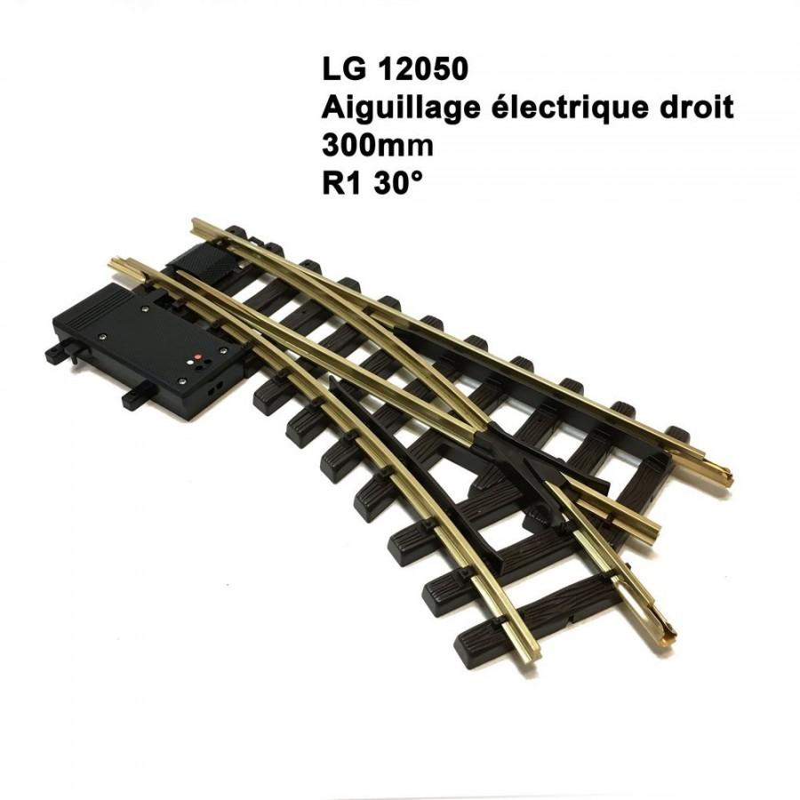 Aiguillage électrique droit 300mm R1 30 degrés-G-1/22.5-LGB 12050