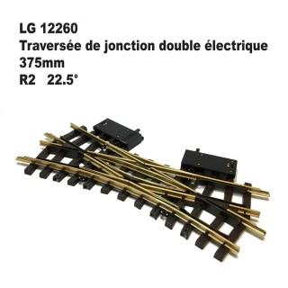 Traversée de jonction double électrique 375mm R2 22.5 degrés-G-1/22.5-LGB 12260