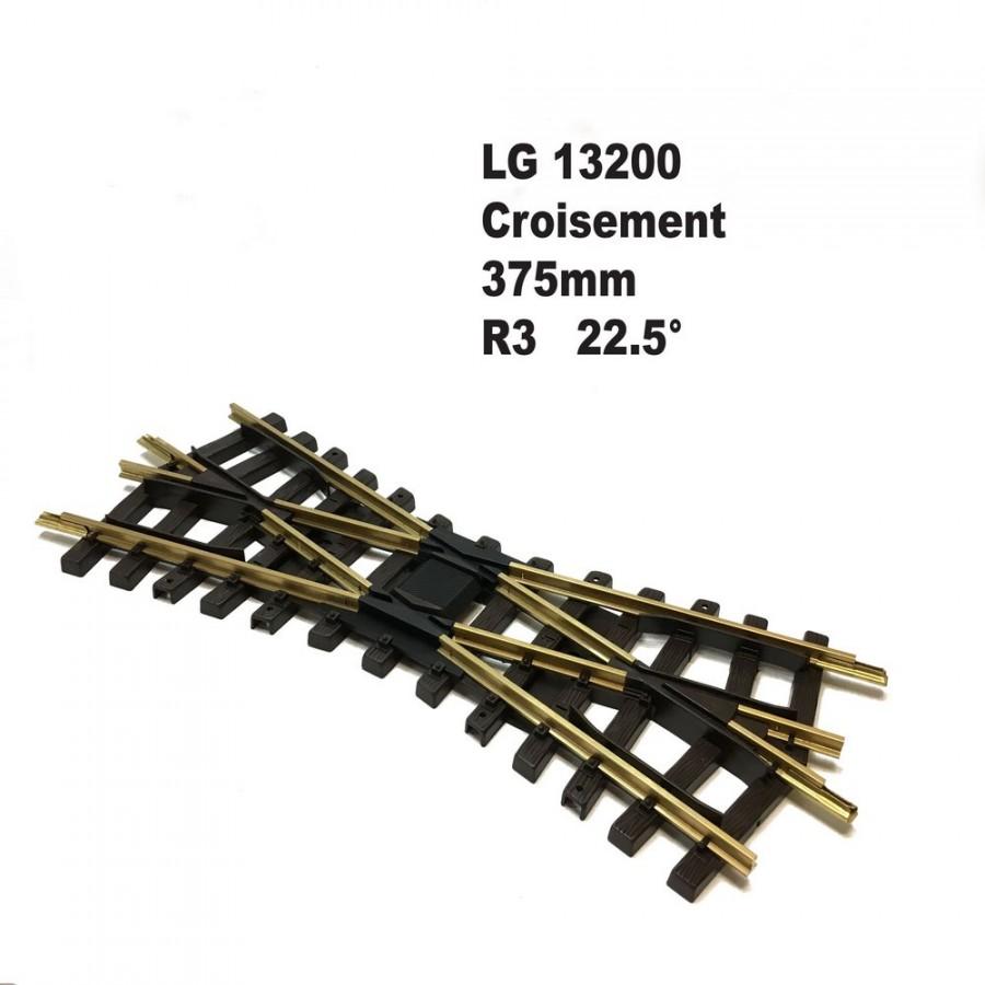 Croisement 375mm R3 22.5 degrés-G-1/22.5-LGB 13200