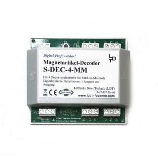 Décodeur pour 4 aiguillages-S DEC 4 MM-LDT 910313