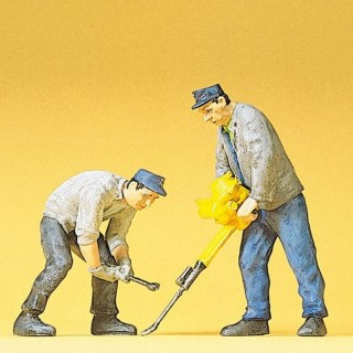 2 ouvriers de voie-G 1/22.5-PREISER 45019