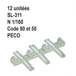 12 éclisses isolées rail Streamline code 80 et 55-N 1/160-PECO SL-311